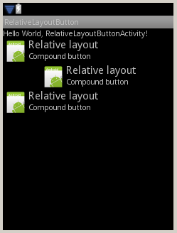 Creating Android button with image and text using relative